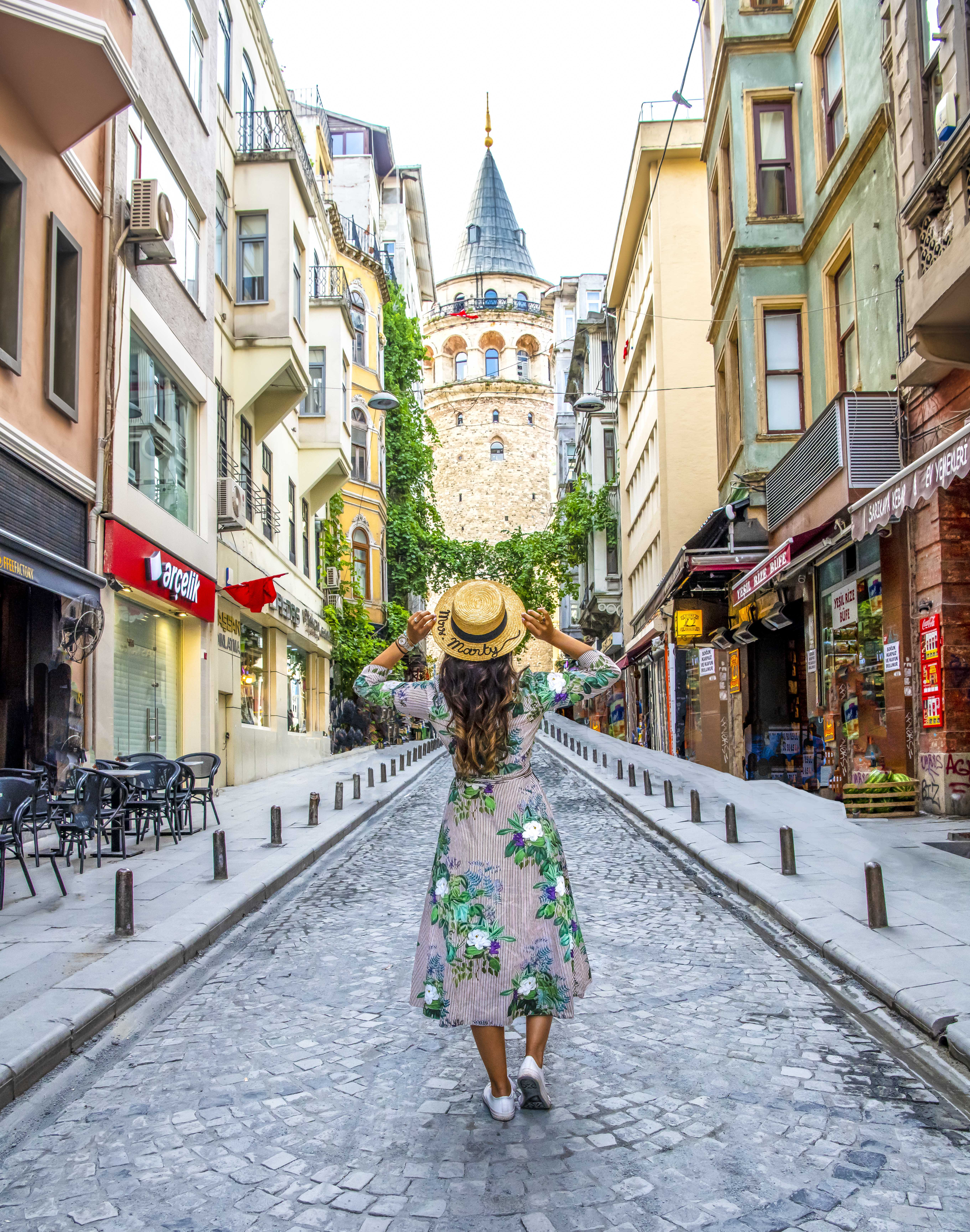 This cobbled street leads up to Galata Tower. It also looks amazing in the Winter.