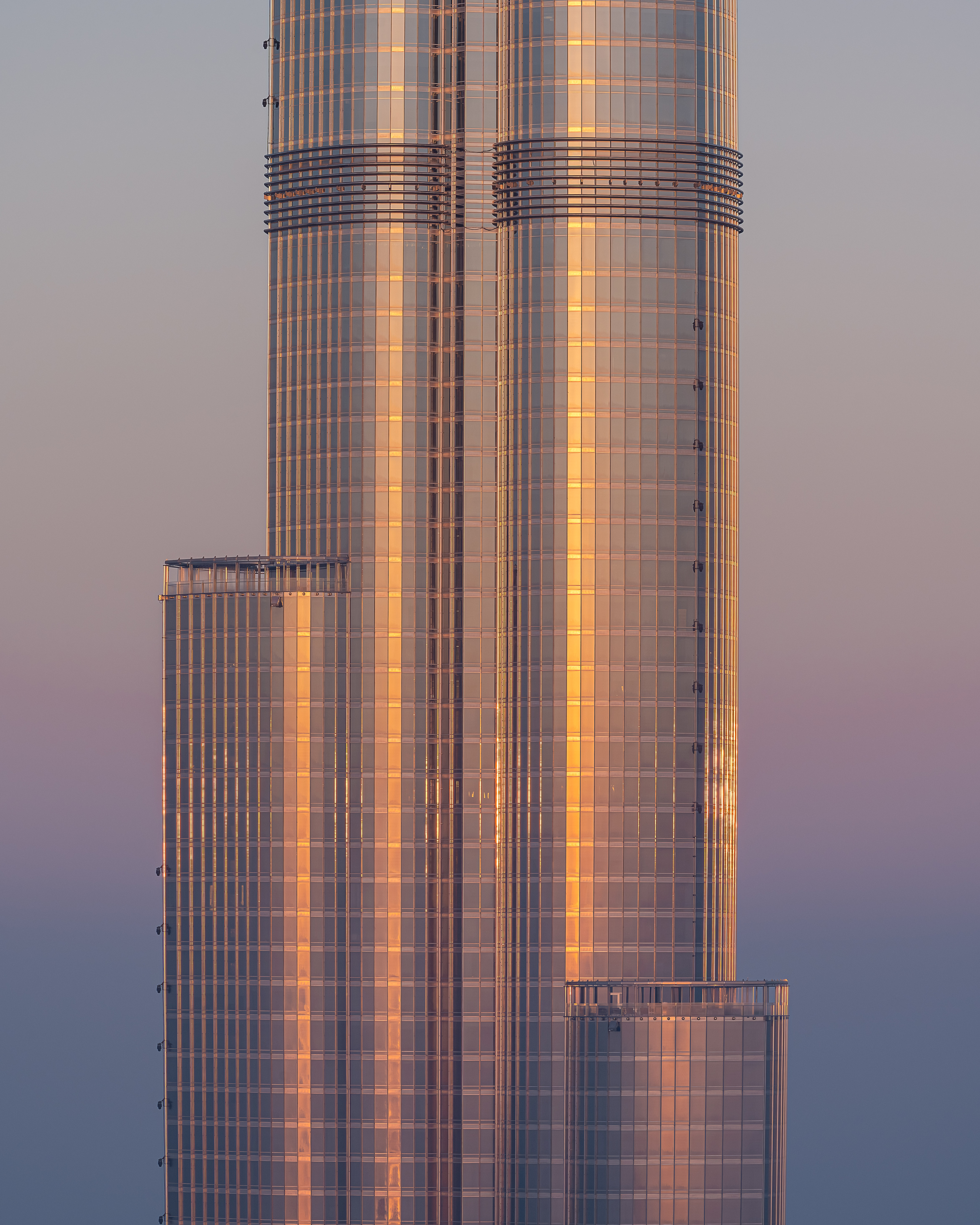 Morning light on the face of the World's tallest building