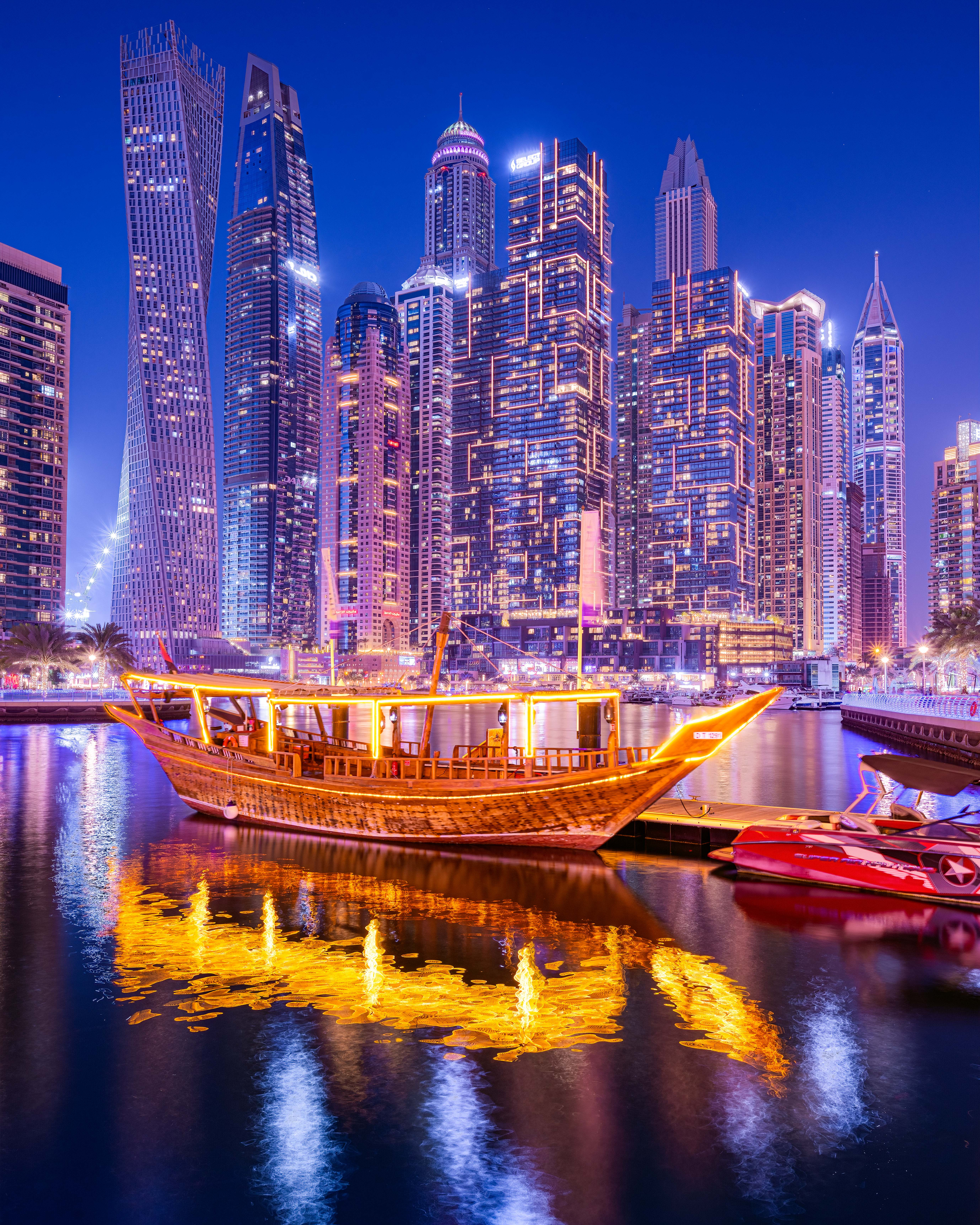 3. Old and new, the abra with the skyline in the background.
