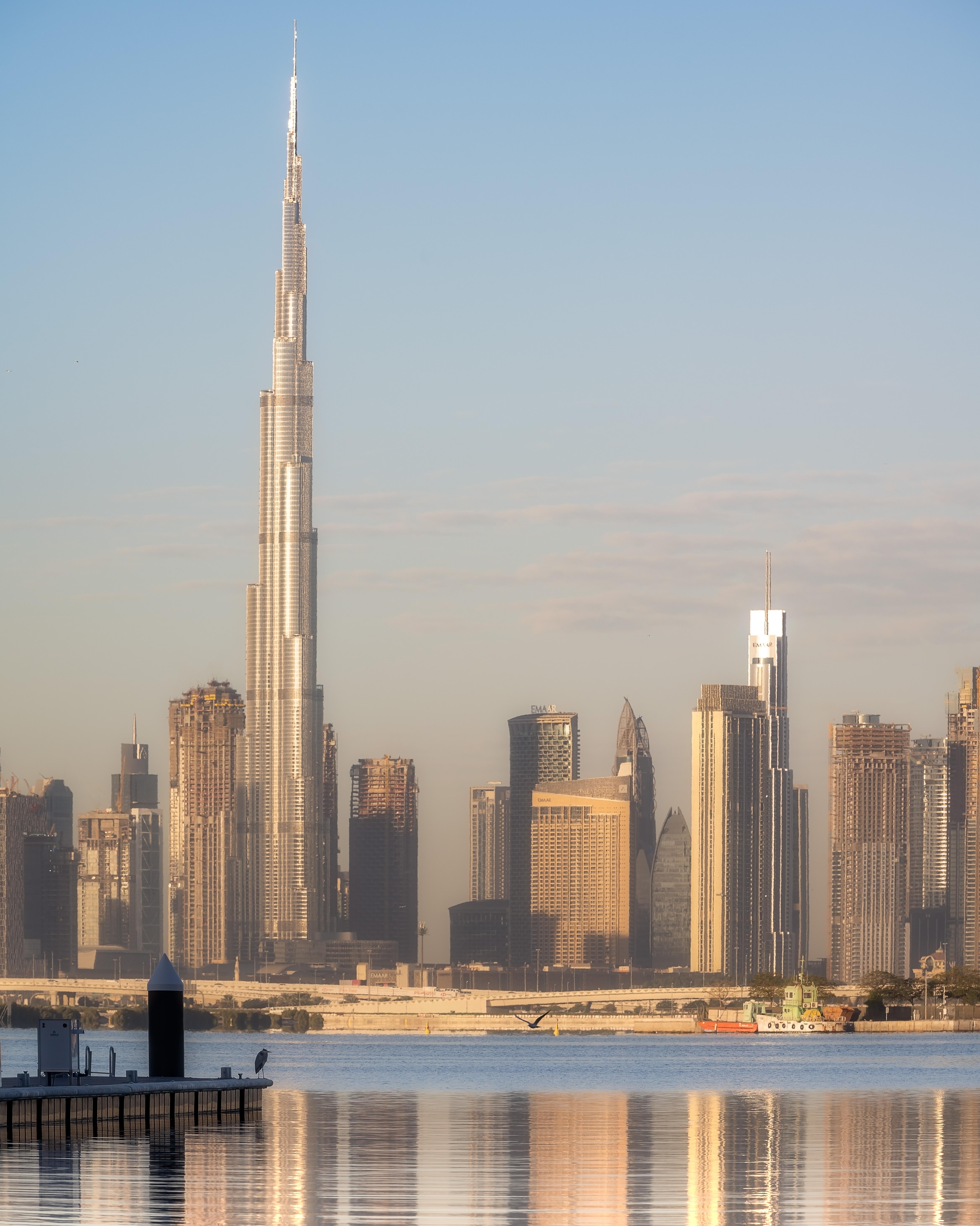 A still sunrise from Dubai Creek Harbour